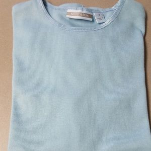 Nordstrom dressy T Shirt light blue.